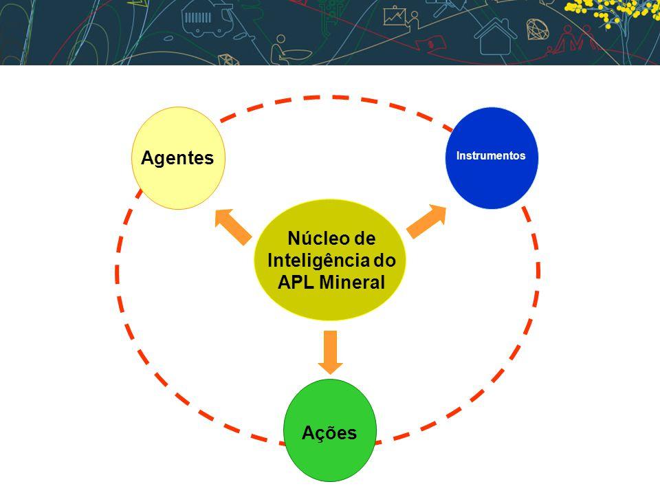 Núcleo de Inteligência do APL Mineral Instrumentos Ações Agentes
