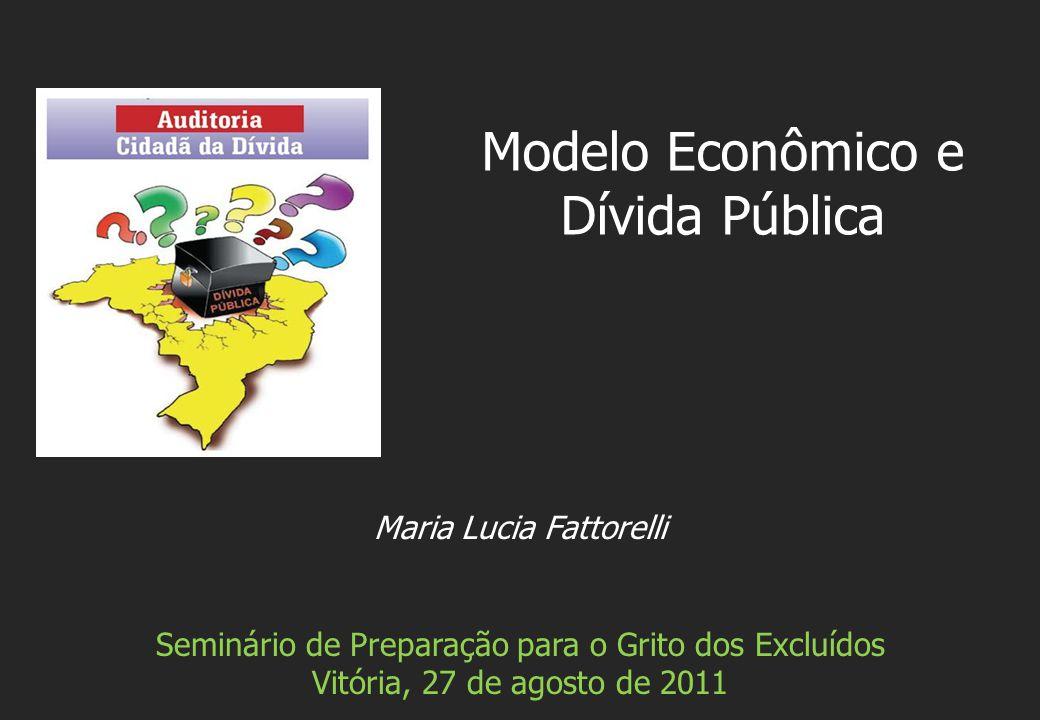 Maria Lucia Fattorelli Seminário de Preparação para o Grito dos Excluídos Vitória, 27 de agosto de 2011 Modelo Econômico e Dívida Pública