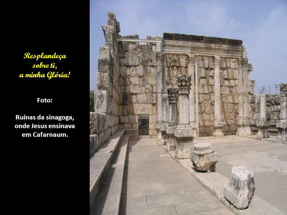 Estás muito preocupado com as coisas desta vida. Foto: Esta era a sinagoga onde Jesus pregava suas Palavras com autoridade. (Lucas 4:31-35)