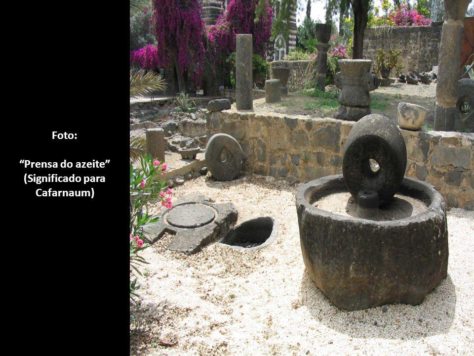 Resplandeça sobre ti, a minha Glória! Foto: Ruínas da sinagoga, onde Jesus ensinava em Cafarnaum.