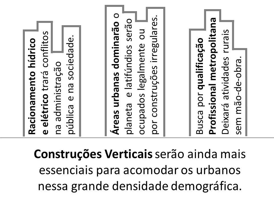 Áreas urbanas dominarão o planeta e latifúndios serão ocupados legalmente ou por construções irregulares.