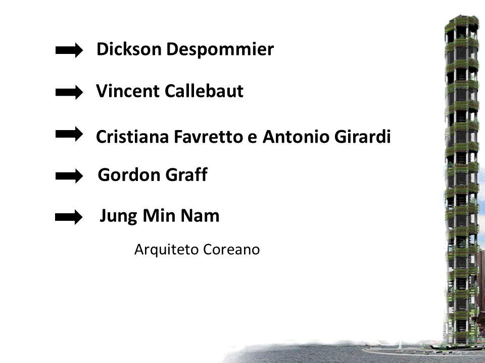Dickson Despommier Vincent Callebaut Cristiana Favretto e Antonio Girardi Gordon Graff Jung Min Nam Arquiteto Coreano