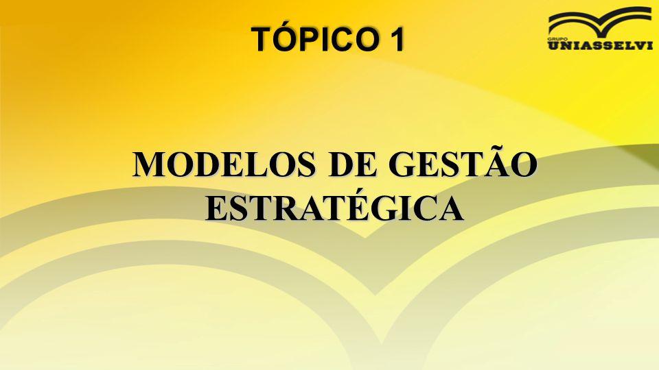 MODELOS DE GESTÃO ESTRATÉGICA