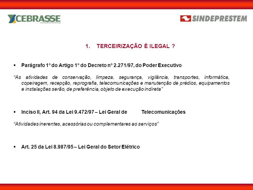  Lei 9.711/98 (Alterou a Lei 8.212/91 – Lei da Previdência) Art.