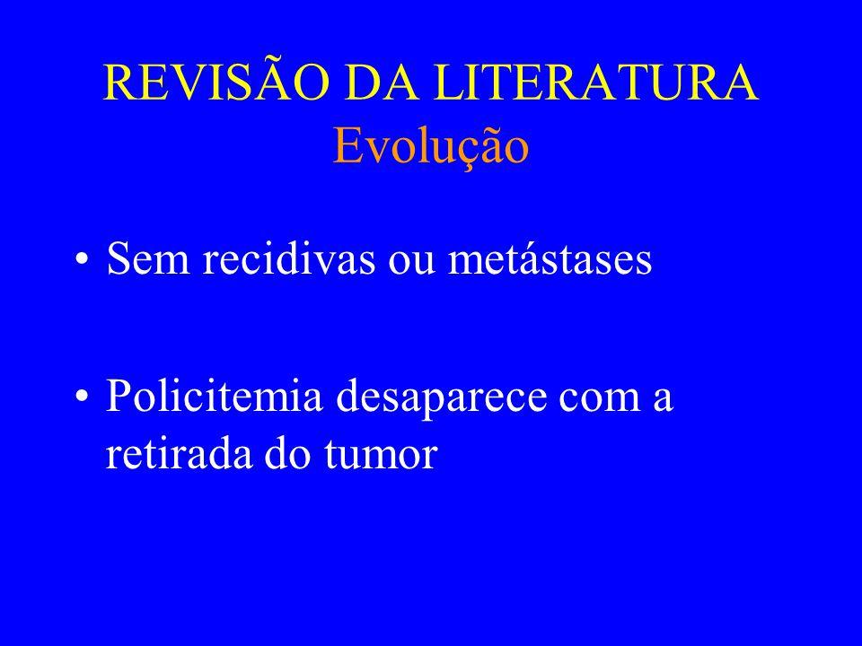 REVISÃO DA LITERATURA Diagnósticos Diferenciais •Nephroblastoma •Carcinoma de células renais •Adenoma •Hamartoma •Paraganglioma