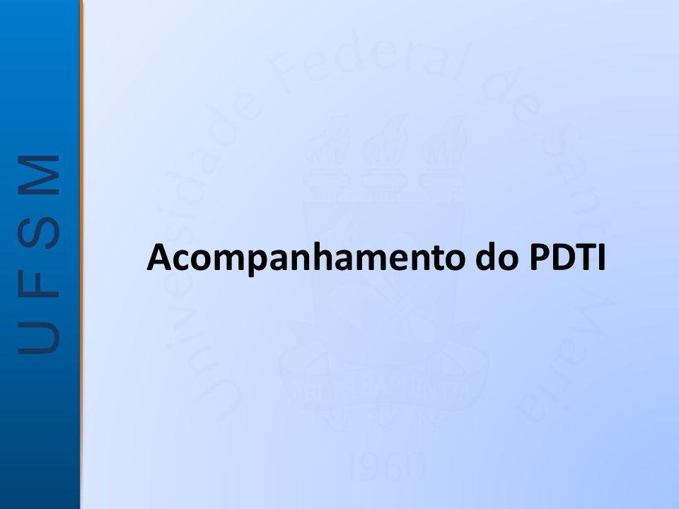 U F S M Acompanhamento do PDTI
