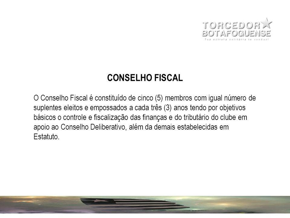 CONSELHO FISCAL O Conselho Fiscal é constituído de cinco (5) membros com igual número de suplentes eleitos e empossados a cada três (3) anos tendo por