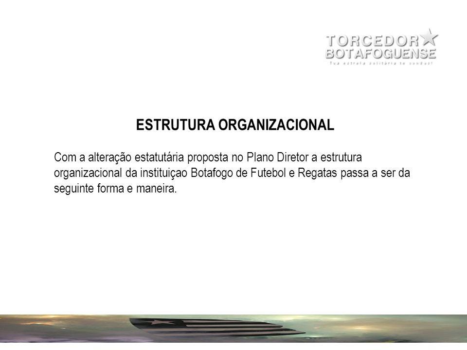 ESTRUTURA ORGANIZACIONAL Com a alteração estatutária proposta no Plano Diretor a estrutura organizacional da instituiçao Botafogo de Futebol e Regatas