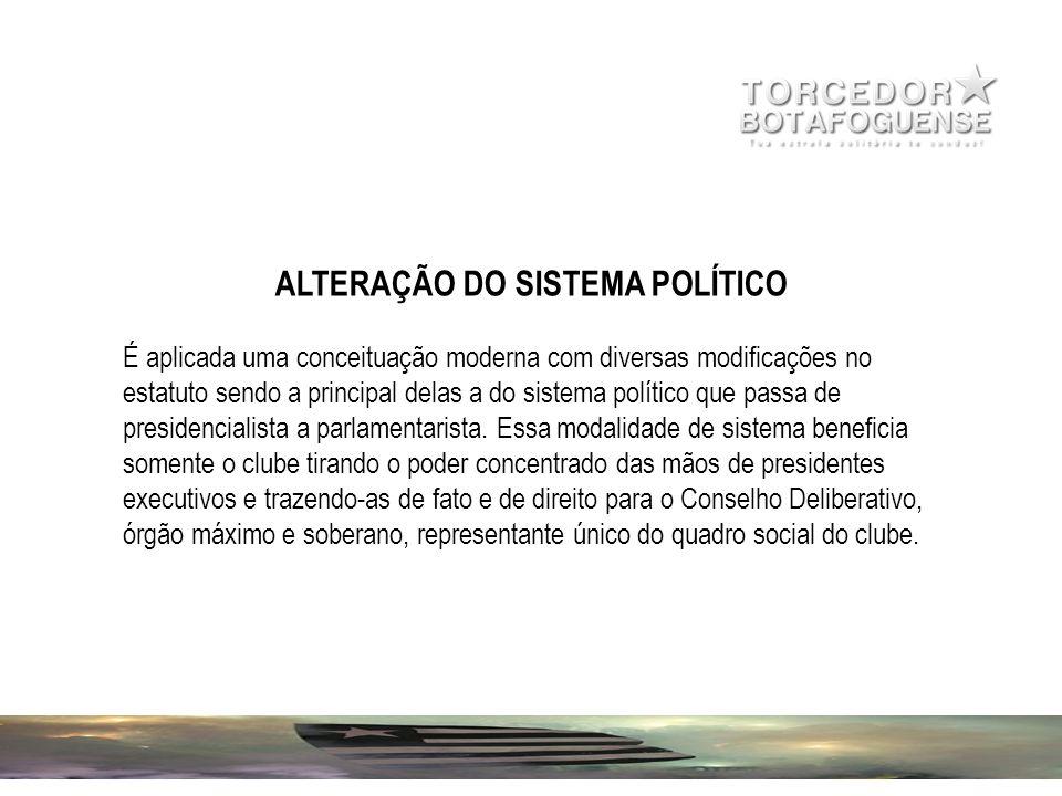 ALTERAÇÃO DO SISTEMA POLÍTICO É aplicada uma conceituação moderna com diversas modificações no estatuto sendo a principal delas a do sistema político