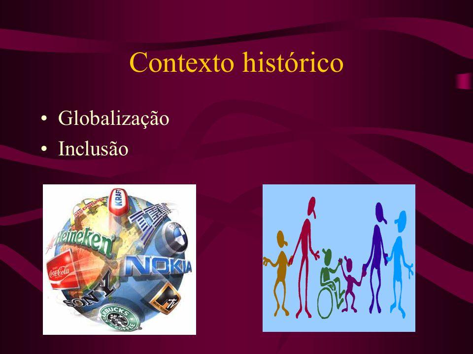 Contexto histórico •Globalização •Inclusão