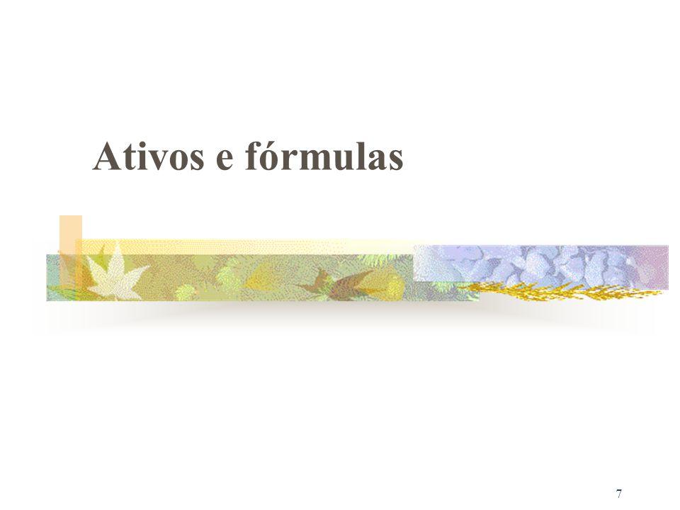 7 Ativos e fórmulas