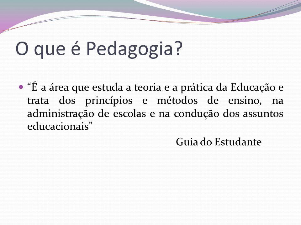 O que é Pedagogia.