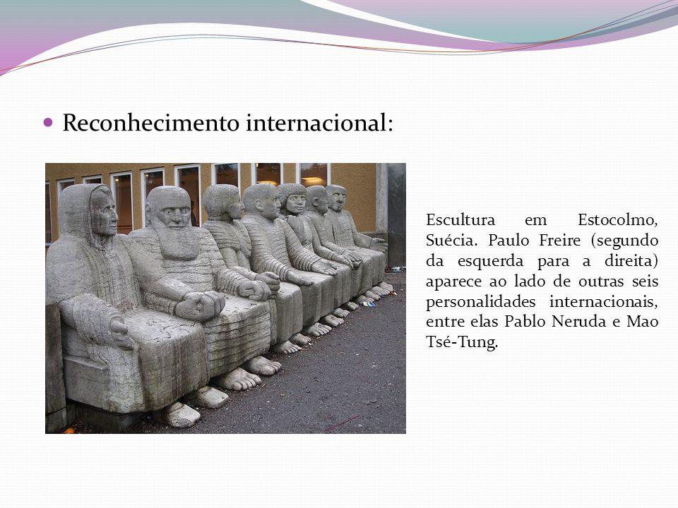  Reconhecimento internacional: Escultura em Estocolmo, Suécia.