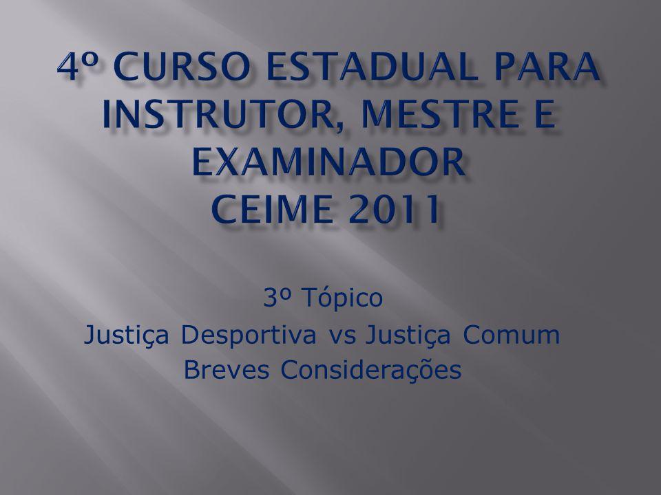 1) Previsão Legal:  A Justiça Desportiva possui previsão Constitucional: a) § 1º do art.