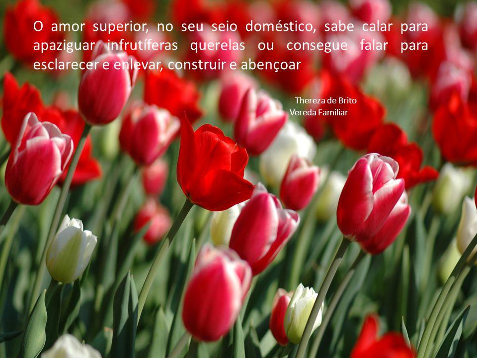 O amor superior, no seu seio doméstico, sabe calar para apaziguar infrutíferas querelas ou consegue falar para esclarecer e enlevar, construir e abenç