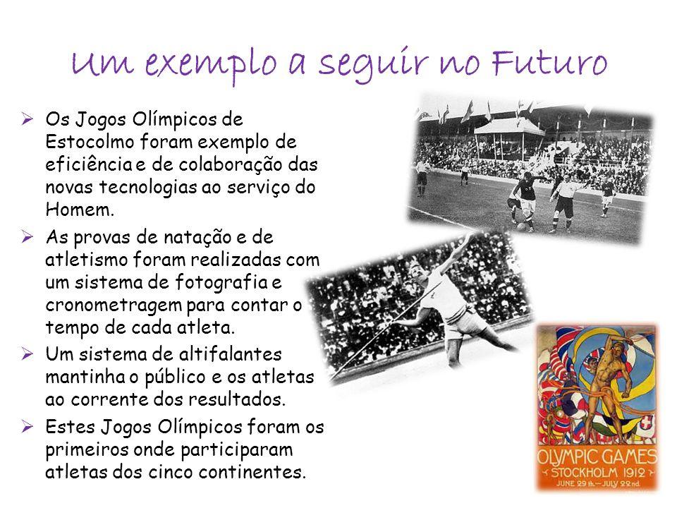 Os Jogos Olímpicos de Estocolmo foram exemplo de eficiência e de colaboração das novas tecnologias ao serviço do Homem.  As provas de natação e de