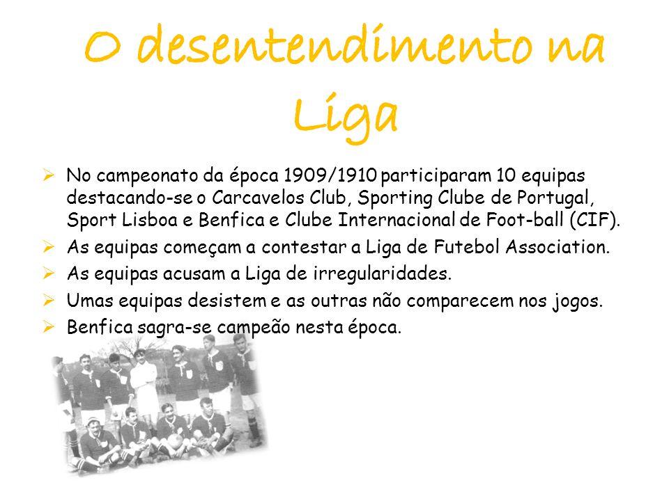  No campeonato da época 1909/1910 participaram 10 equipas destacando-se o Carcavelos Club, Sporting Clube de Portugal, Sport Lisboa e Benfica e Clube