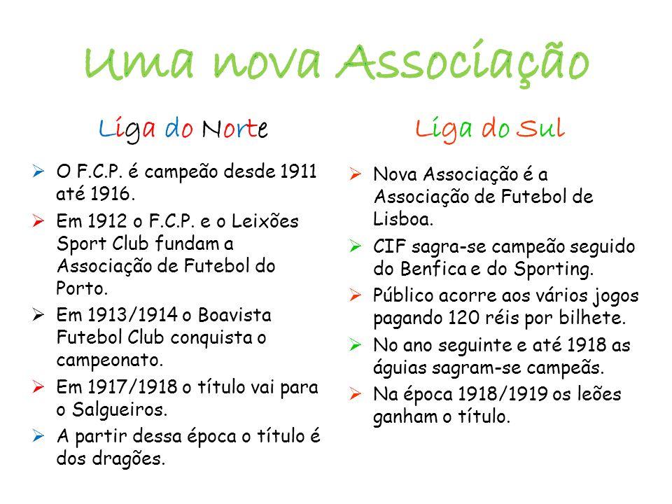  O F.C.P. é campeão desde 1911 até 1916.  Em 1912 o F.C.P. e o Leixões Sport Club fundam a Associação de Futebol do Porto.  Em 1913/1914 o Boavista