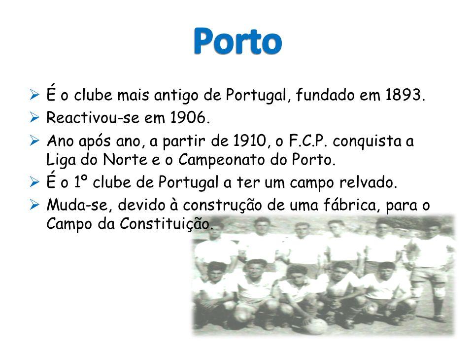  É o clube mais antigo de Portugal, fundado em 1893.  Reactivou-se em 1906.  Ano após ano, a partir de 1910, o F.C.P. conquista a Liga do Norte e o