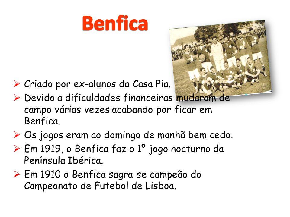  Criado por ex-alunos da Casa Pia.  Devido a dificuldades financeiras mudaram de campo várias vezes acabando por ficar em Benfica.  Os jogos eram a