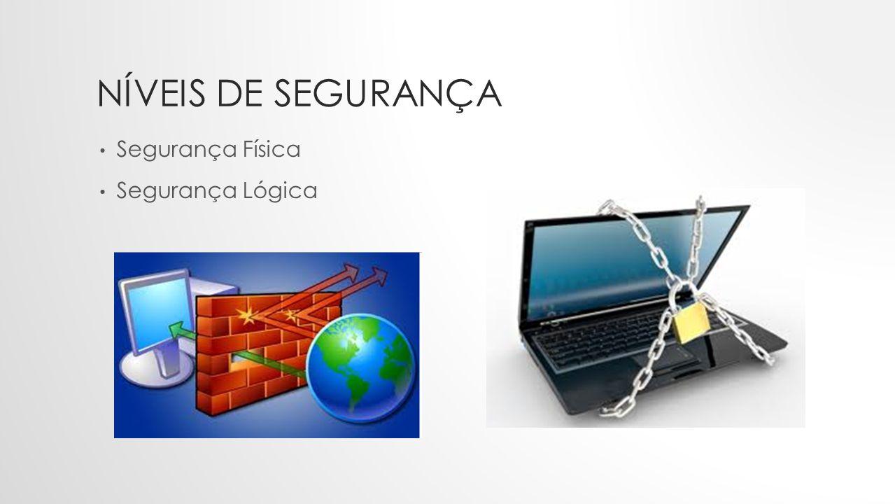 NÍVEIS DE SEGURANÇA • Segurança Física • Segurança Lógica