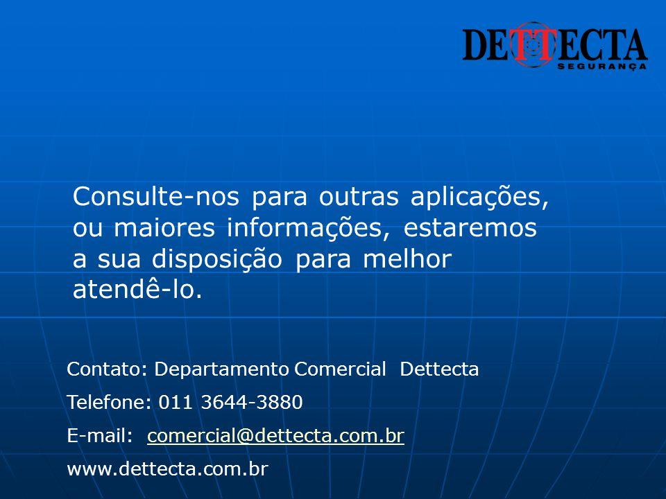 Contato: Departamento Comercial Dettecta Telefone: 011 3644-3880 E-mail: comercial@dettecta.com.brcomercial@dettecta.com.br www.dettecta.com.br Consul