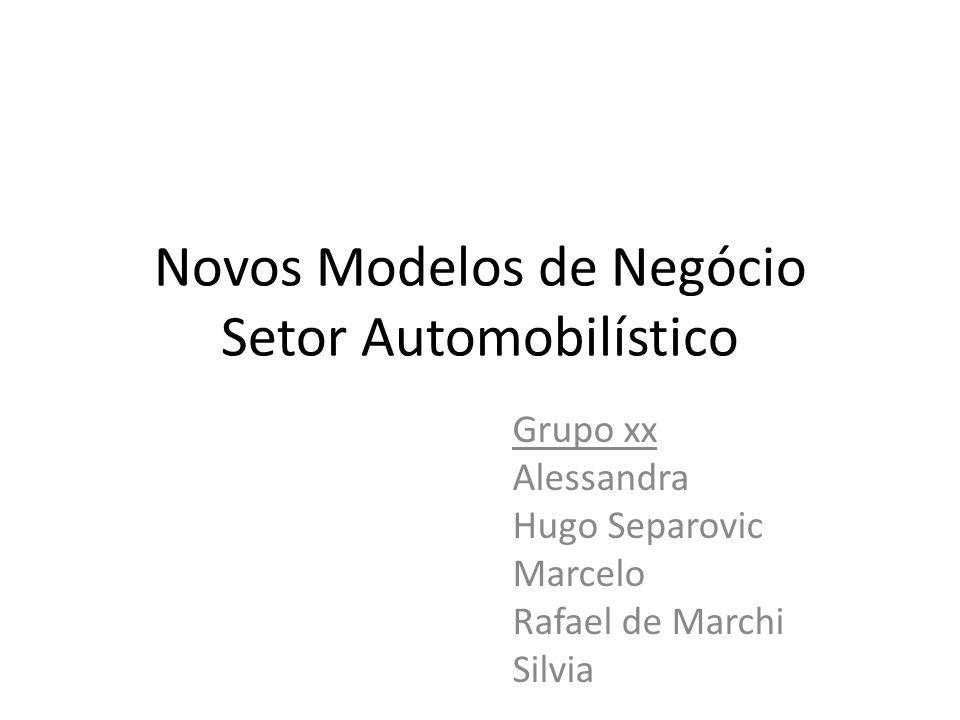 Novos Modelos de Negócio Setor Automobilístico Grupo xx Alessandra Hugo Separovic Marcelo Rafael de Marchi Silvia