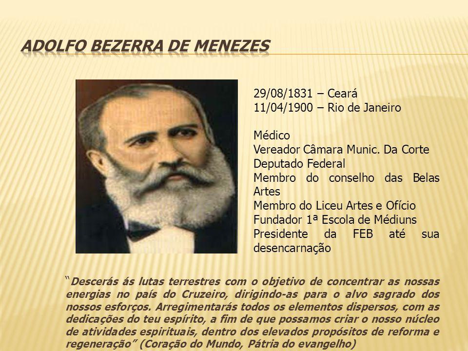 29/08/1831 – Ceará 11/04/1900 – Rio de Janeiro Médico Vereador Câmara Munic. Da Corte Deputado Federal Membro do conselho das Belas Artes Membro do Li