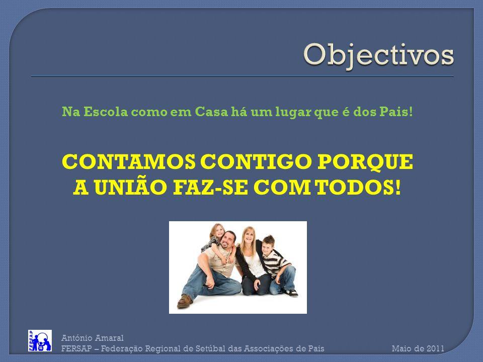 António Amaral FERSAP – Federação Regional de Setúbal das Associações de Pais Maio de 2011 Na Escola como em Casa há um lugar que é dos Pais.