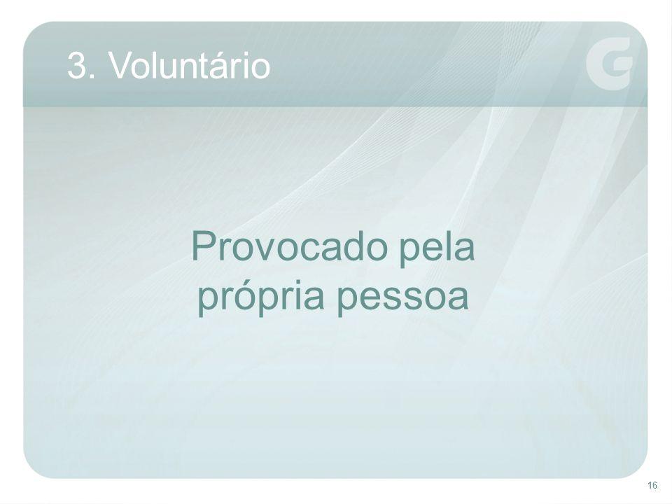 16 3. Voluntário Provocado pela própria pessoa