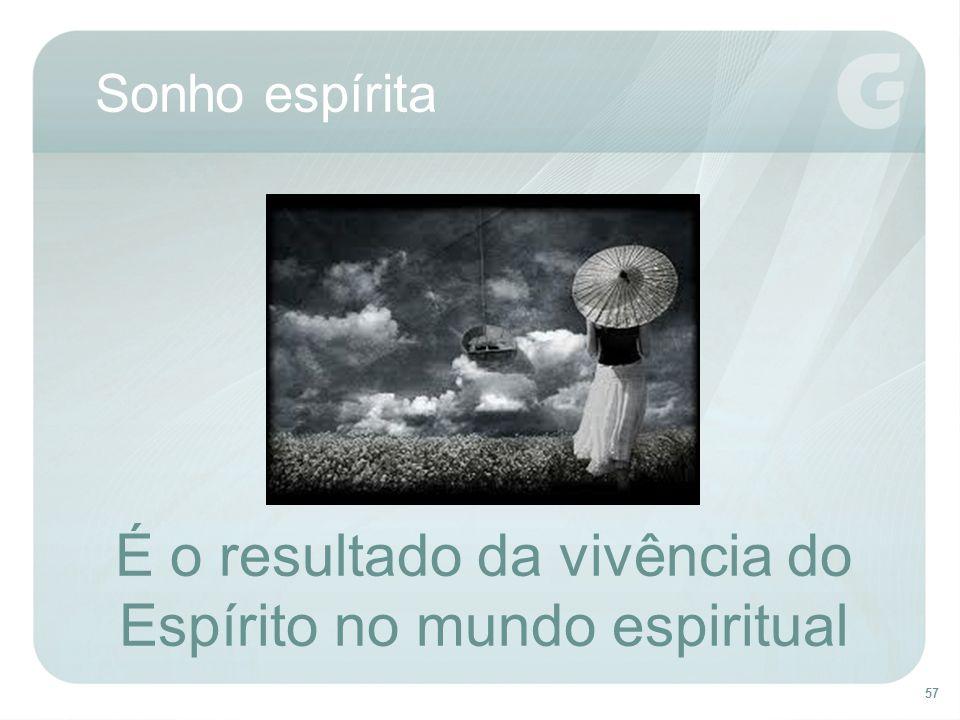 57 Sonho espírita É o resultado da vivência do Espírito no mundo espiritual