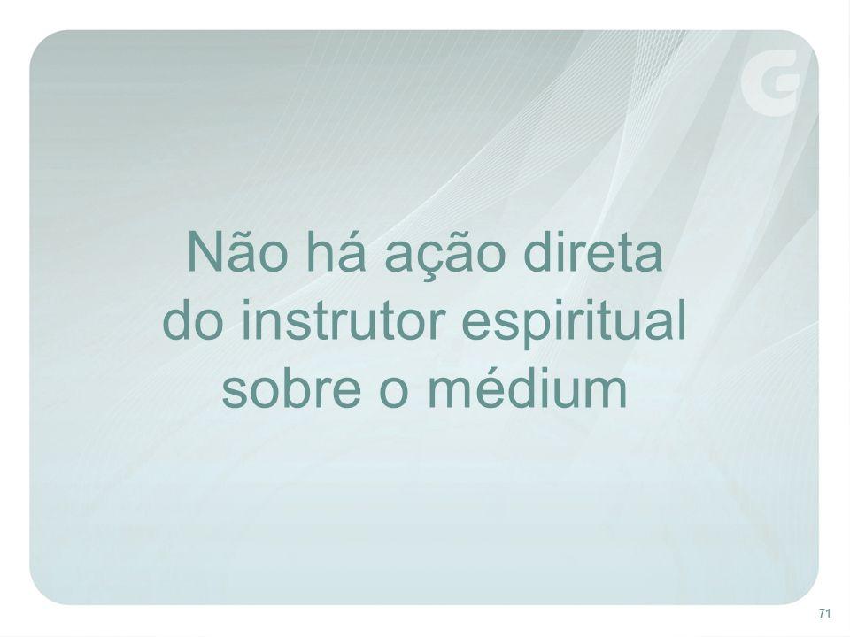 71 Não há ação direta do instrutor espiritual sobre o médium
