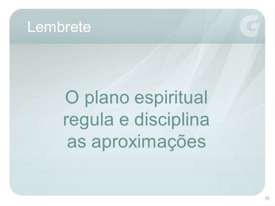 75 Lembrete O plano espiritual regula e disciplina as aproximações