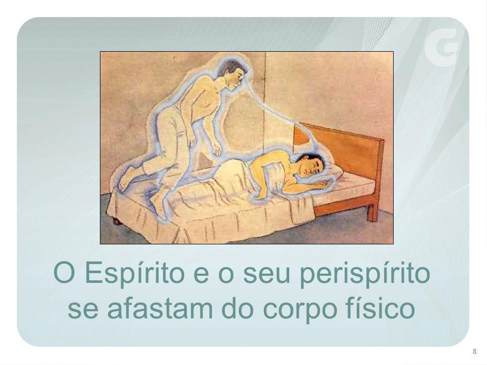 8 O Espírito e o seu perispírito se afastam do corpo físico