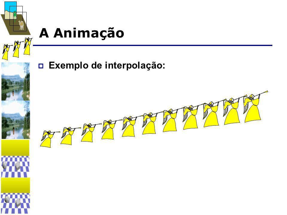 A Animação  Exemplo de interpolação:
