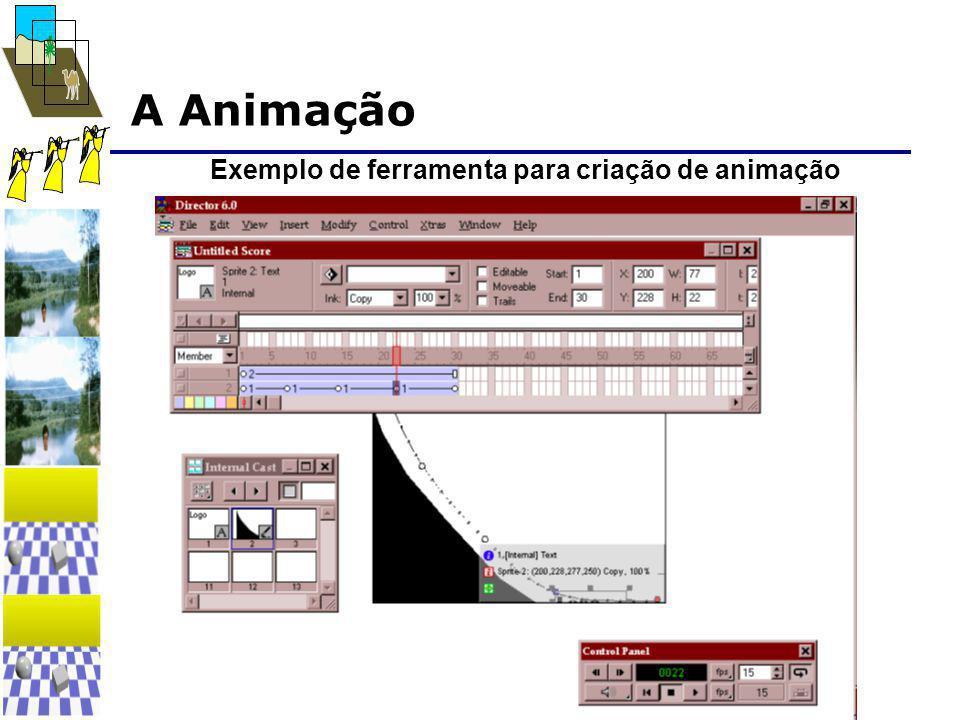 A Animação Exemplo de ferramenta para criação de animação