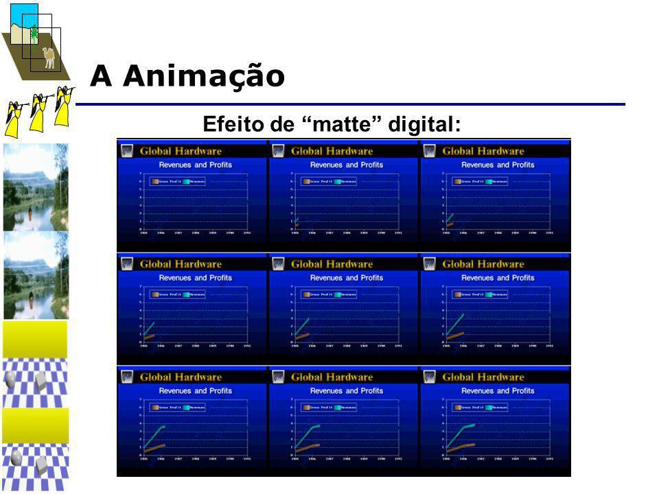 """A Animação Efeito de """"matte"""" digital:"""
