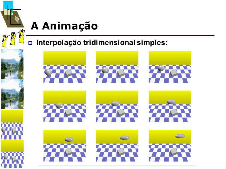 A Animação  Interpolação tridimensional simples: