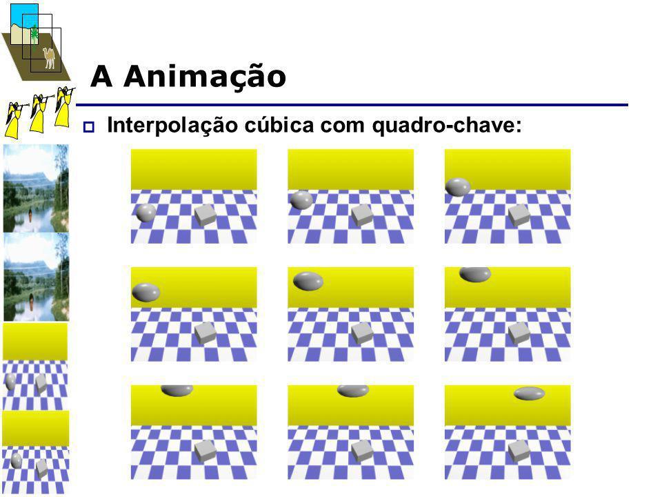 A Animação  Interpolação cúbica com quadro-chave: