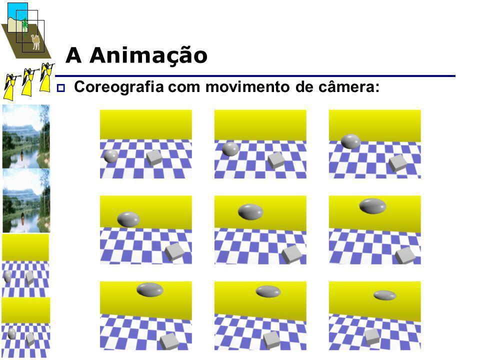 A Animação  Coreografia com movimento de câmera: