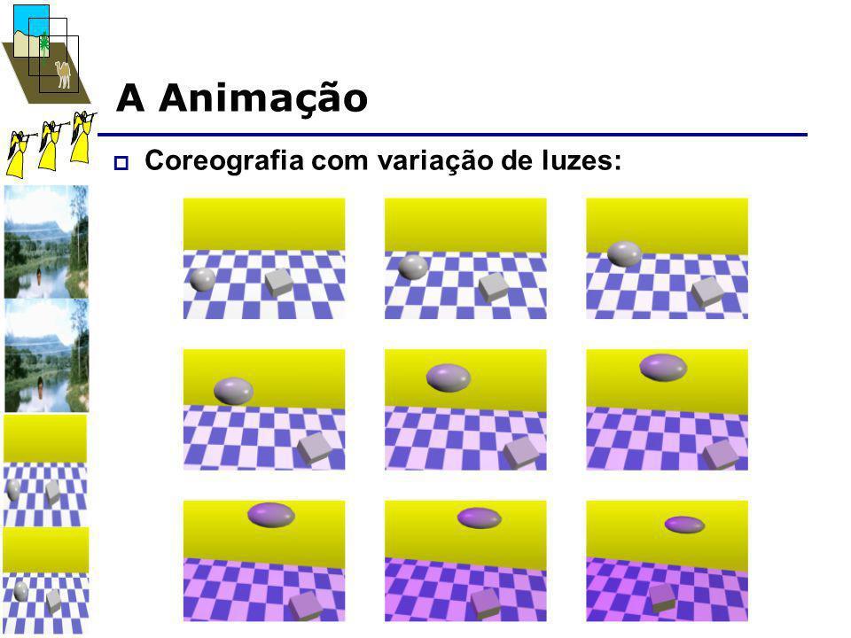 A Animação  Coreografia com variação de luzes: