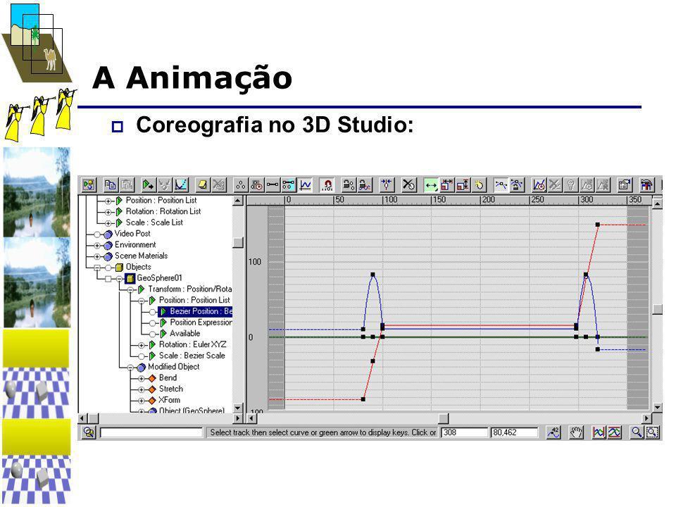 A Animação  Coreografia no 3D Studio: