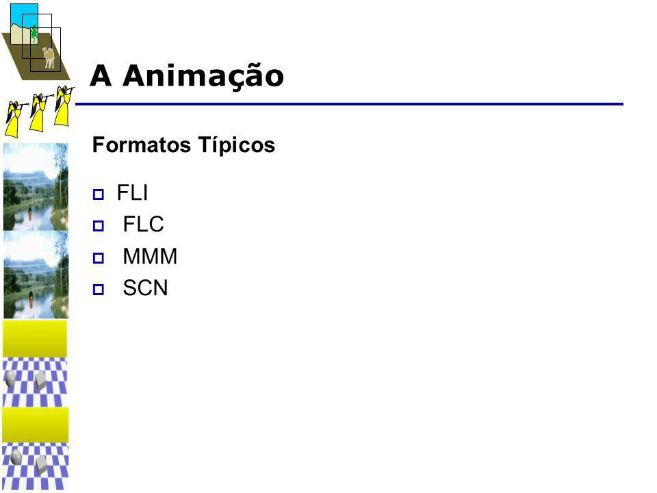 A Animação Formatos Típicos  FLI  FLC  MMM  SCN