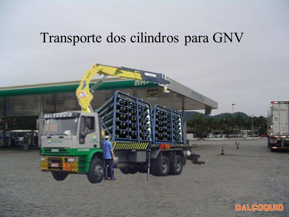 Transporte dos cilindros para GNV