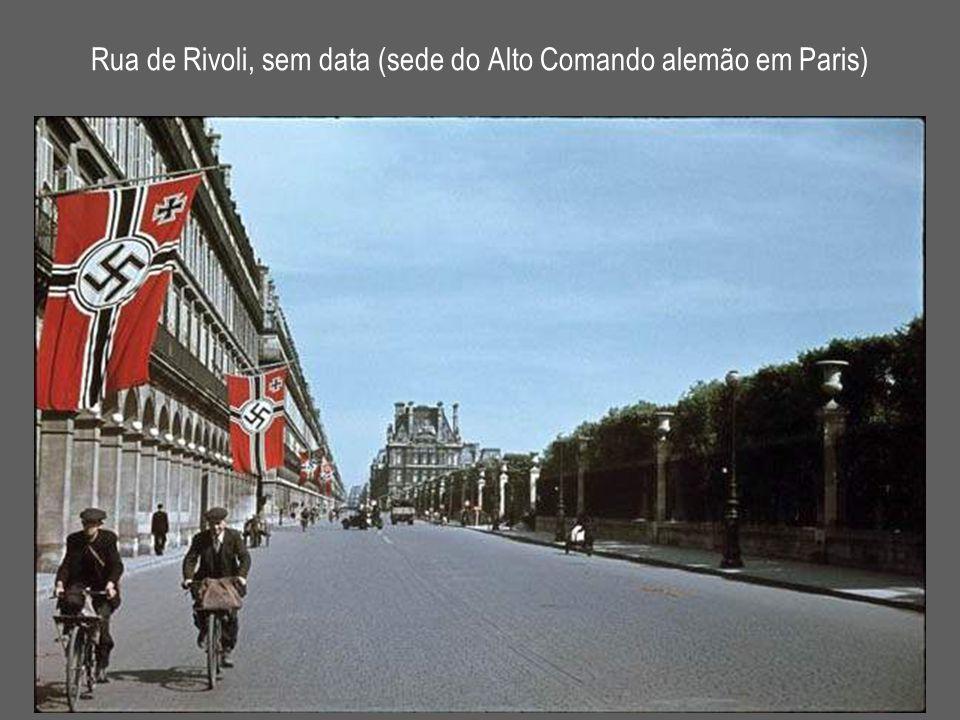 Rua de Rivoli, sem data (sede do Alto Comando alemão em Paris)
