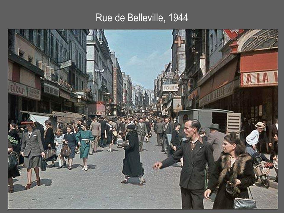 Rue de Belleville, 1944