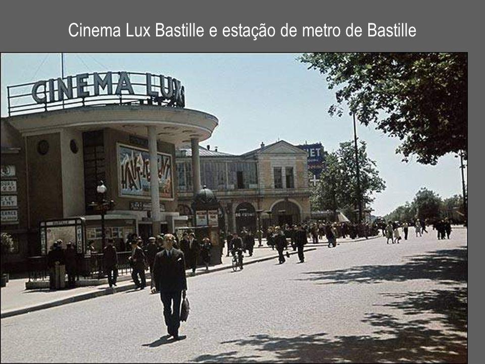 Cinema Lux Bastille e estação de metro de Bastille
