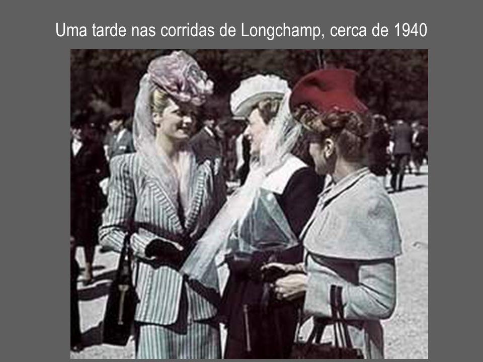 Uma tarde nas corridas de Longchamp, cerca de 1940