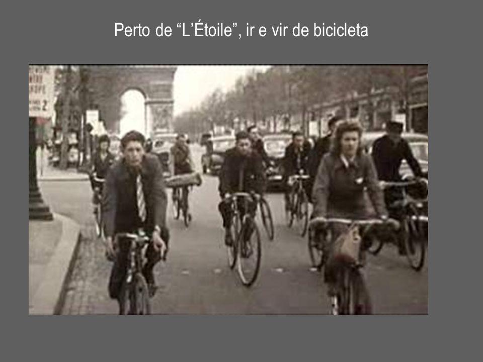 "Perto de ""L'Étoile"", ir e vir de bicicleta"