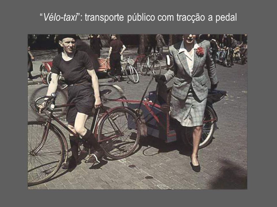""""""" Vélo-taxi """": transporte público com tracção a pedal"""